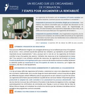 UN REGARD SUR LES ORGANISMES DE FORMATION : 7 ETAPES POUR AUGMENTER LA RENTABILITÉ